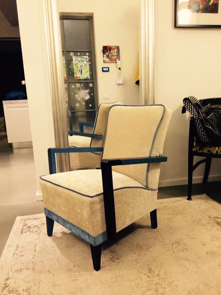 Artdeco fehér fotel