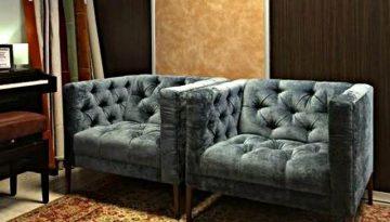 Kék modern fotelpár