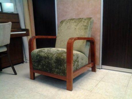 Zöld artdeco fotel