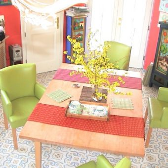 Ebédlő székek és bükkfa asztal 02