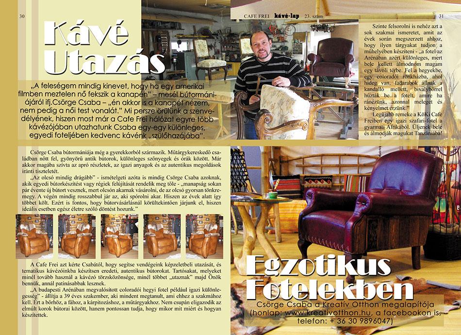 Cafe Frei - Kávé Lap 23. szám