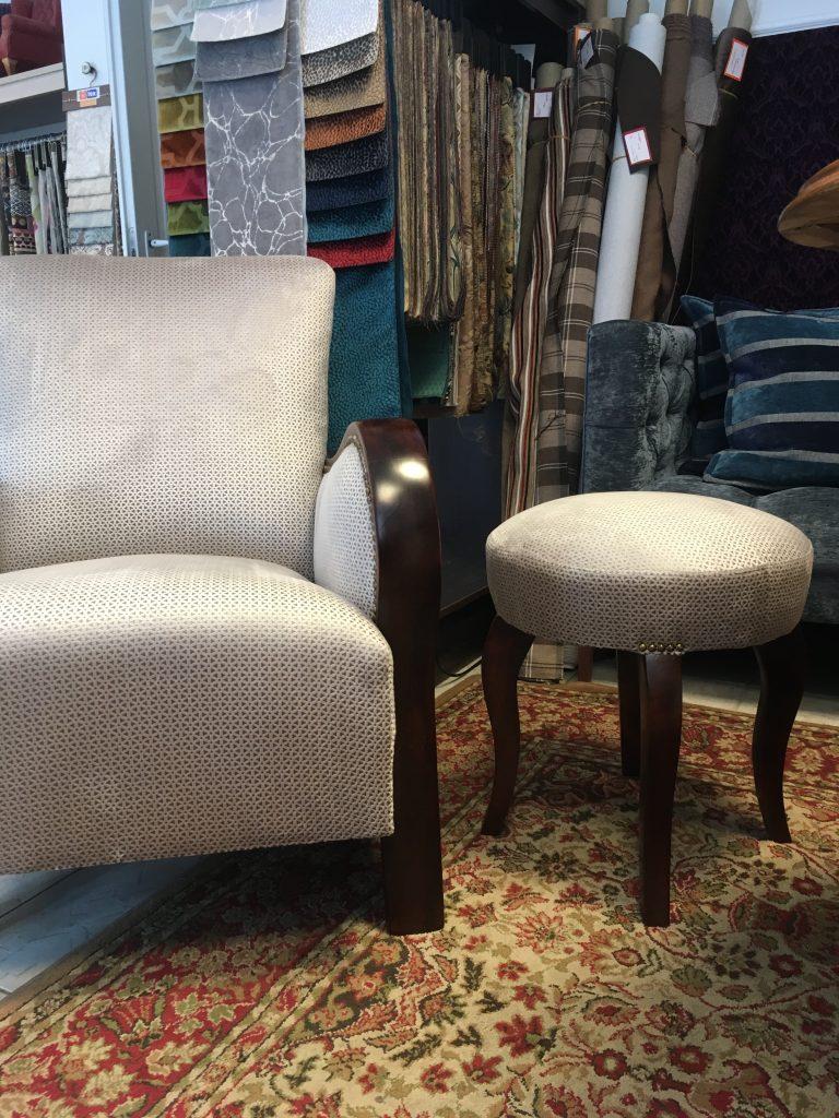 Artdeco fotel és puff