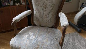 Glamour fehér/arany szövettel felújítva